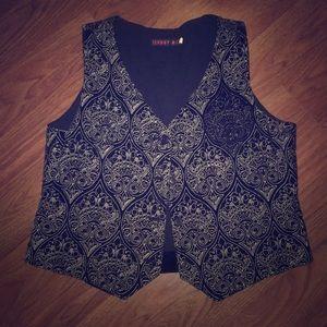 Johnny Was Embroidered Velvet Vest